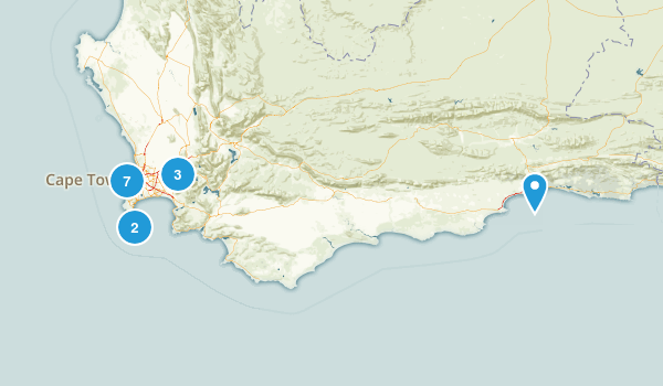 Western Cape, South Africa Nature Trips Map