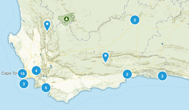 Western Cape, South Africa Views Map