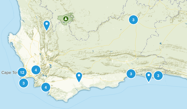 Western Cape, South Africa Walking Map