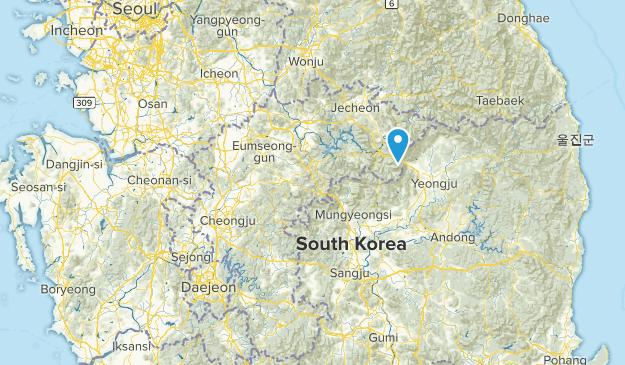 Chungcheongbuk-do, South Korea National Parks Map