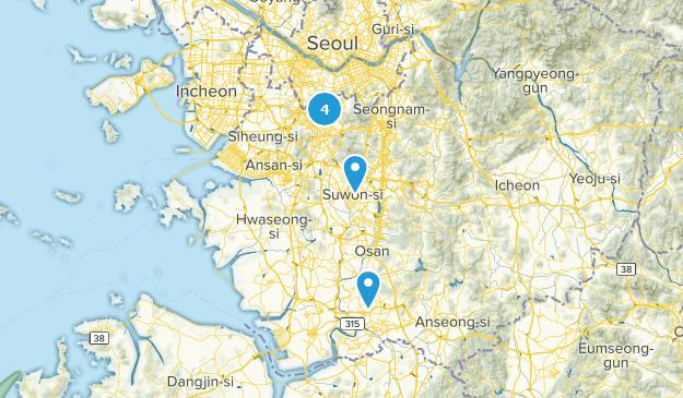 Gyeonggi-do, South Korea Nature Trips Map