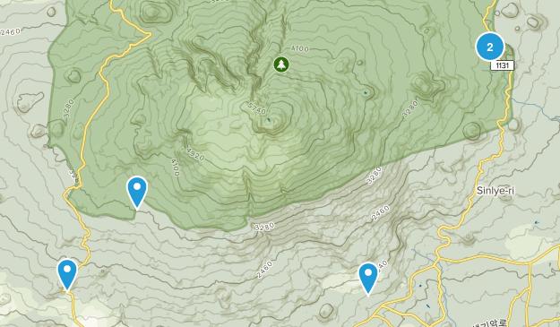 Jeju, South Korea Hiking Map