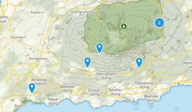 Jeju, South Korea Parks Map