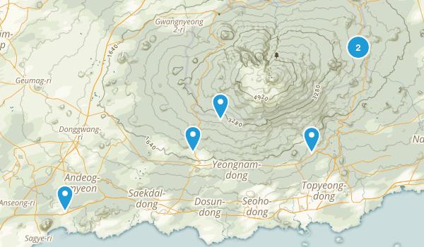 Jeju, South Korea Walking Map