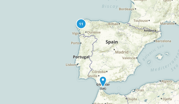 A Coruña, Spain Walking Map