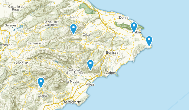 Alicante/Alacant, Spain Birding Map