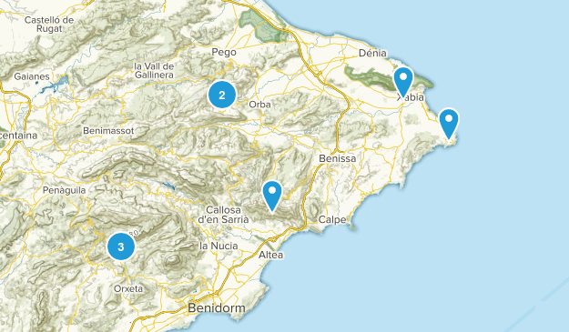 Alicante/Alacant, Spain Hiking Map