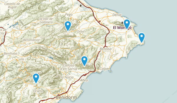 Alicante/Alacant, Spain Nature Trips Map