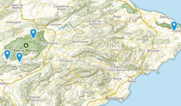 Alicante Map Of Spain.Best Parks In Alicante Alacant Spain Alltrails