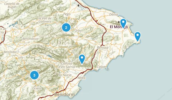 Alicante/Alacant, Spain Walking Map