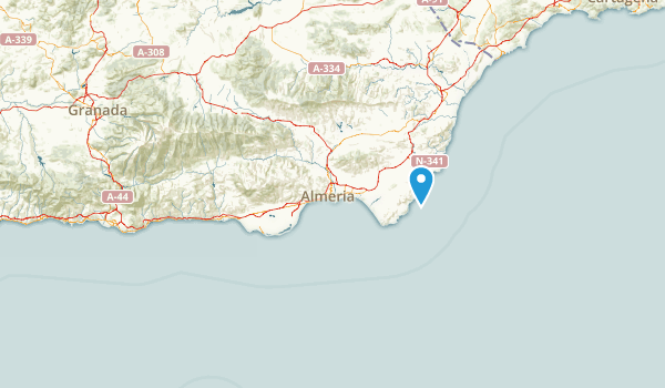 Almería, Spain Parks Map