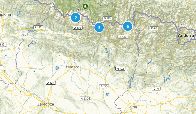 Aragon, Spain Forest Map