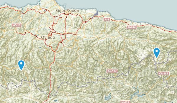Asturias, Spain Parks Map