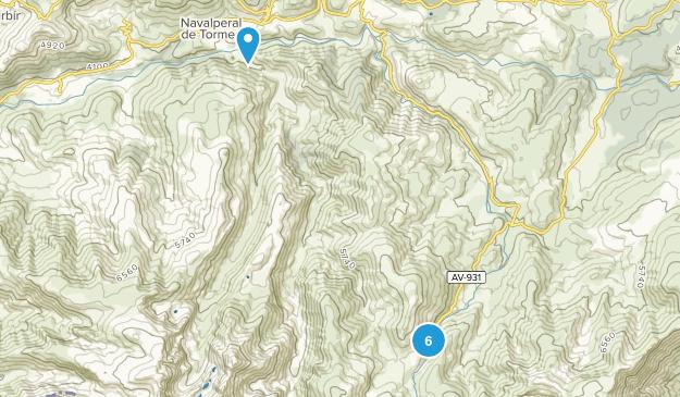 Ávila, Spain Hiking Map