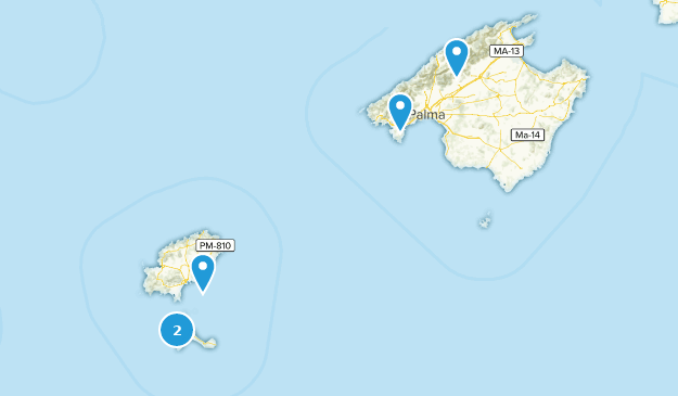 Balearic Islands, Spain Bird Watching Map