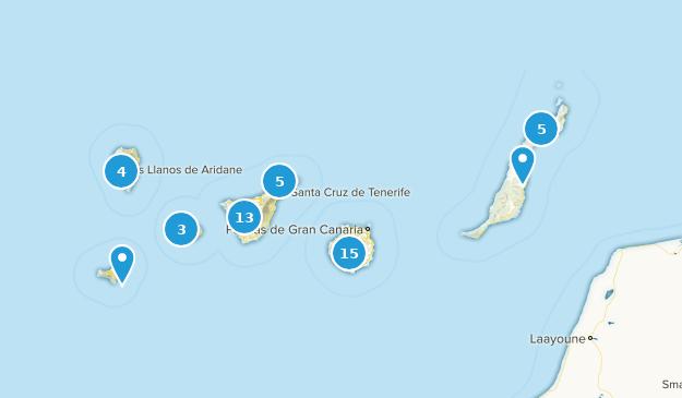Canary Islands, Spain Hiking Map