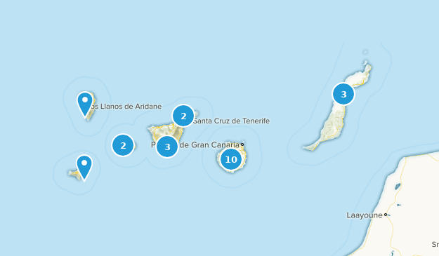Canary Islands, Spain Nature Trips Map