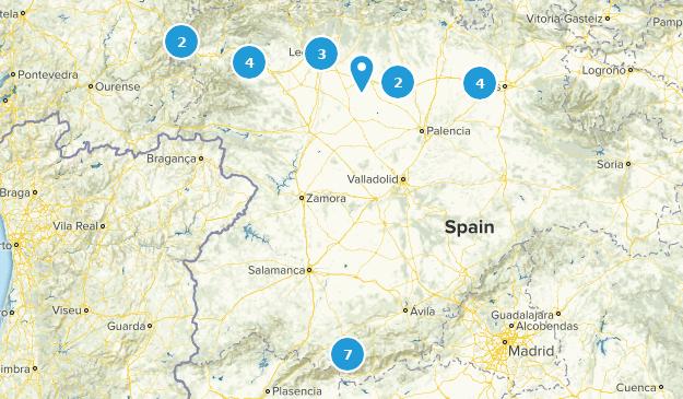 Castile and León, Spain Birding Map