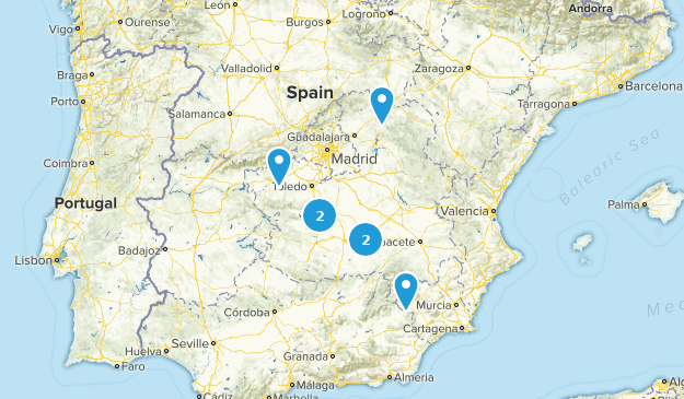 Map Of Spain La Mancha.Best Wildlife Trails In Castilla La Mancha Spain Alltrails