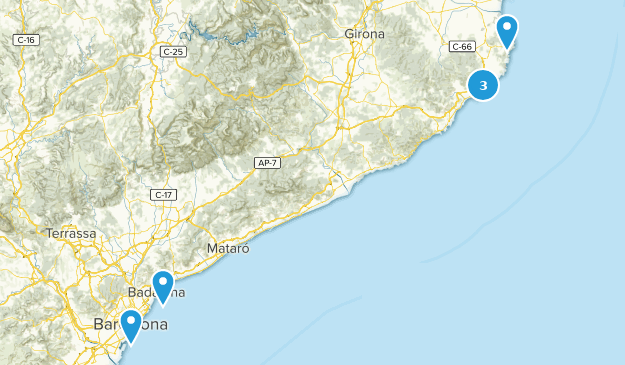 Catalonia, Spain Beach Map