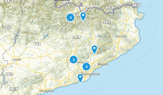 Catalonia, Spain Forest Map