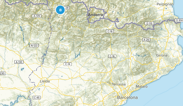 Catalonia, Spain Lake Map