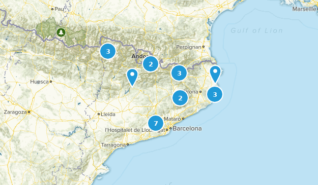 Catalonia, Spain Nature Trips Map