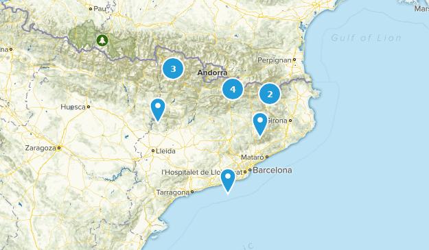 Catalonia, Spain River Map