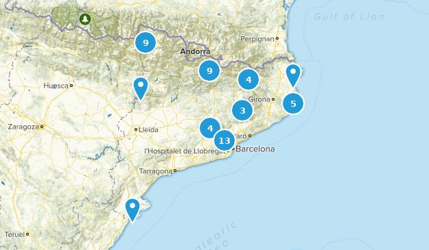 Catalonia, Spain Views Map