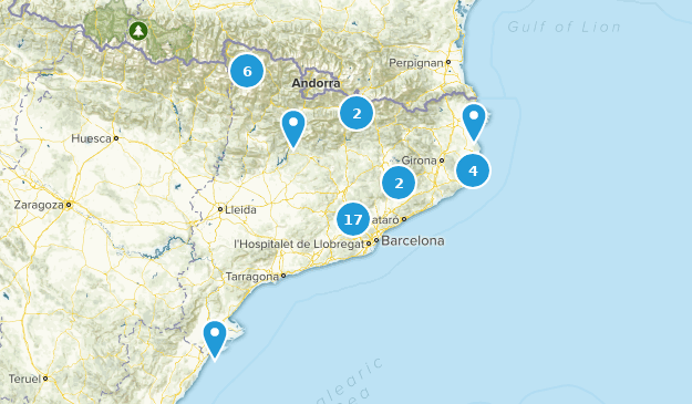 Catalonia, Spain Walking Map