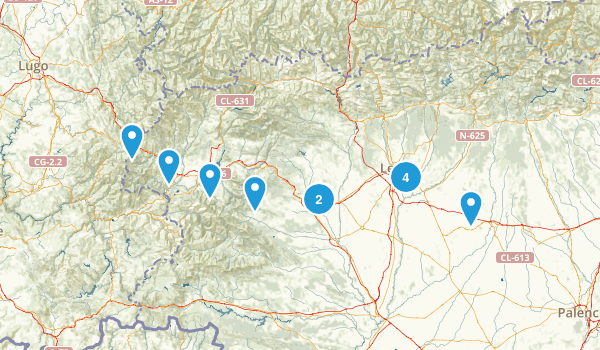 León, Spain Hiking Map