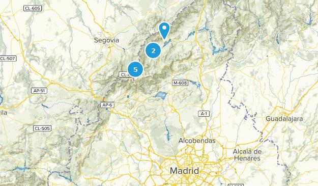 Madrid, Spain Bird Watching Map
