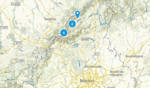 Madrid, Spain Nature Trips Map