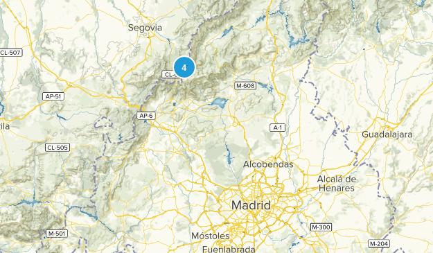 Madrid, Spain Parks Map