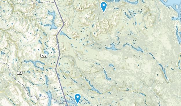 Jämtland, Sweden Parks Map