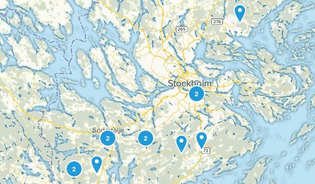 Stockholms län, Sweden Hiking Map