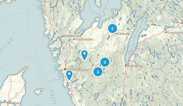 Västra Götalands län, Sweden Hiking Map