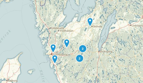 Västra Götalands län, Sweden Trail Running Map