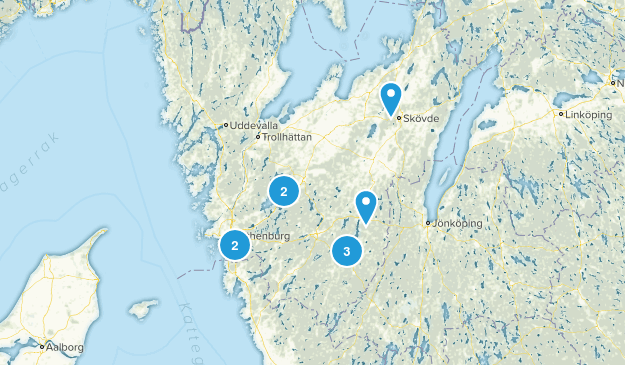 Västra Götalands län, Sweden Wild Flowers Map