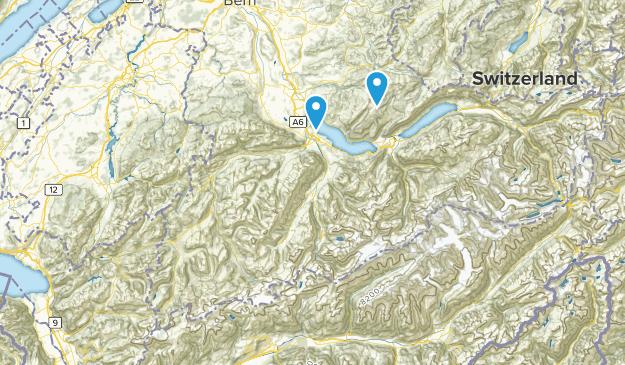 Bern, Switzerland Parks Map