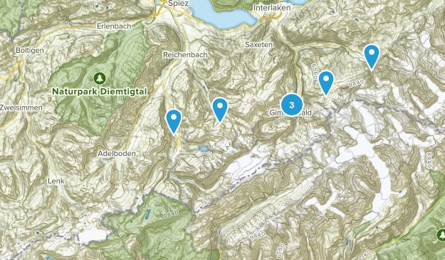 Bern, Switzerland Wildlife Map