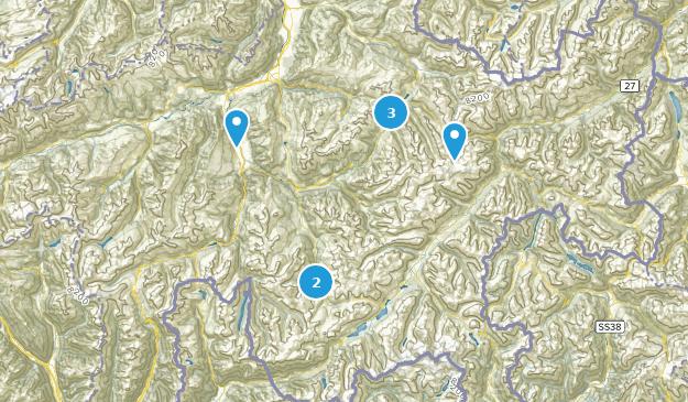 Graubünden, Switzerland Hiking Map
