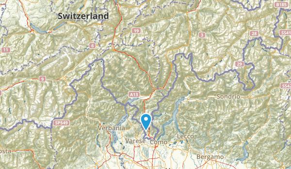 Ticino, Switzerland Parks Map