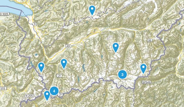 Valais, Switzerland Backpacking Map