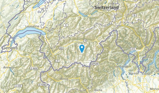 Valais, Switzerland Parks Map