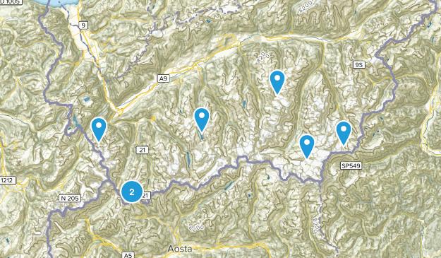 Valais, Switzerland Trail Running Map