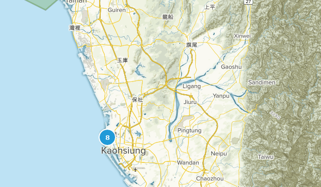 Kaohsiung City, Taiwan Parks Map