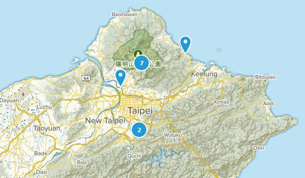 Taipei City, Taiwan Hiking Map