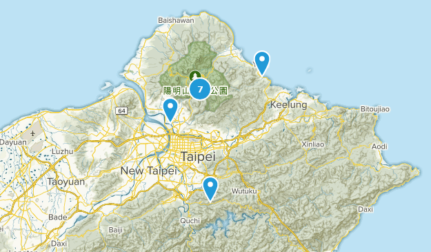 Taipei City, Taiwan Nature Trips Map