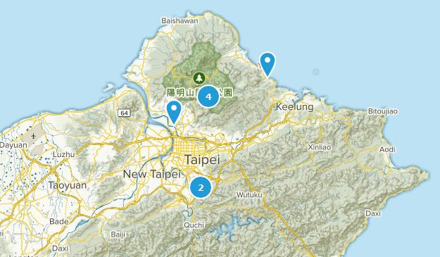Taipei City, Taiwan Walking Map